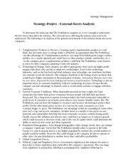 Strategy Project - External Forces Analysis
