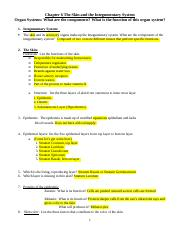 Bio 112 Chapter 6 Study Guide Integumentary System