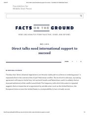 Mitchell Plitnick-Direct talks need international support to succeed-May 2016