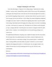 Strategies of defeating the writer unit 6 diss