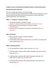 Honors Chemistry Module 6 Lesson 3 Guided Notes (1)
