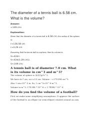 The diameter of a tennis ball.docx