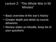 Whole War in 50 Minutes
