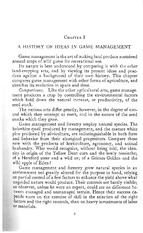 Leopold - Game Management (Chapter 1)