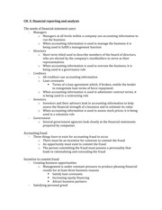CH. 5- financial reporting and analysis notes