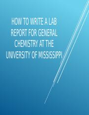 how to write a lab report university