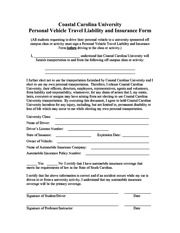 Personal Vehicle Form