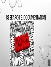 Research & Documentation.pptx