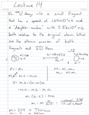 Physics Lecture 14