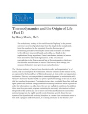 Thermodynamics and the Origin of Life (Part I) (2)