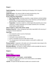 Finance Test 1 study guide