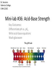 Mini-lab #36_ Acid-Base Strength Expt #15_ TLC of Drugs