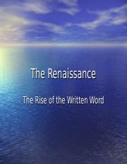 The Renaissance Writers.ppt