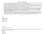 Activity Card Format- Part 2- Spring 2014