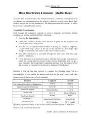 Basic Coordinates and Seasons Student Guide docx