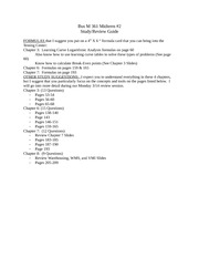 361 Midterm _2 Study Guide