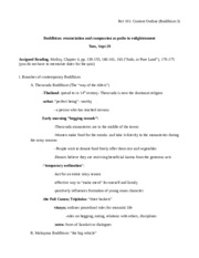 Content Outline (Buddhism 3)