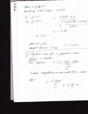 Stat 213 notes -hypothesis test population mean