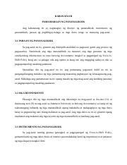 thesis instrumento ng pananaliksik