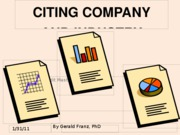 CITING COMPANY AND INDUSTRY REPORTS