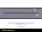 2008_Pyramid research_VN communication market