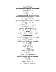 Background Equations