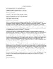 Business Communication Formal Letter