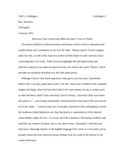 Reaction Essay Concerning Nikki Giovanni's View on Poetry