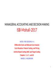 2017---ISB-MADM-Sessions 4-6-Relevant cost analysis- product costing -pricing-ABC (1).ppt