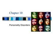 Chapter 10 - Personality Disorders