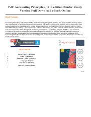 accounting principles twelfth edition pdf