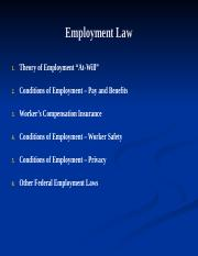 Employment Law - BUL 3310.ppt