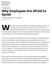 Why Employees Are Afraid to Speak - HBR.pdf