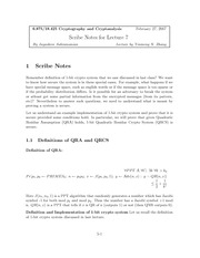 Quadratic Residue Assumption and Crypto Systems notes