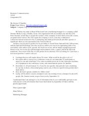 Business Communication Letter 8.9
