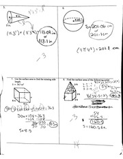 Notes On Geometric Formulas & Calculating Surface Area