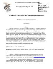 BECO406-20171Spring Reading0304 Expenditure elasticities of the demand for leisure
