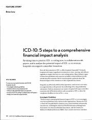 ICD-10 - 5 steps to a comprehensive financial impact analysis.