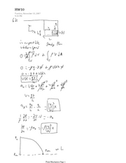 Fluid Mechanics HW10