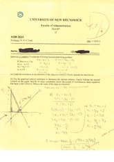 ADM 2624 2012 Midterm 1D Solutions