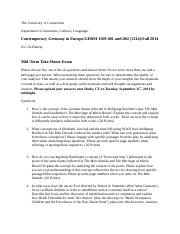 Mid-Term Exam for COntemporary Germany in Europe(1)