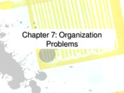 Ch 07 organizational problems