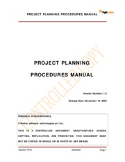 Project Planning Procedures Manual