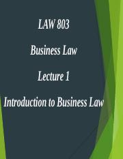LAW 803 Lecture 1b.ppt