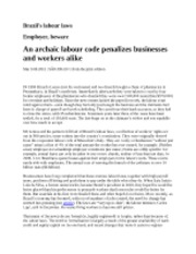 Brazil's labour laws_March 2011