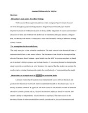 Annotated Bibliography for Bullying