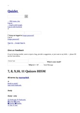 7, 8, 9,10, 11 Quizzes HISM flashcards _ Quizlet