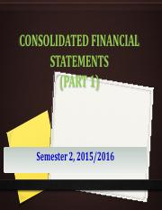 Lecture 1- Consolidated Financial Statements (Part 1)