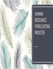 Unit 2 - HR Forecasting Process