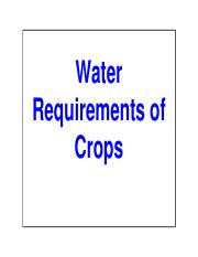 Lecture Series 11_Water Requirements of Crops-2014-15